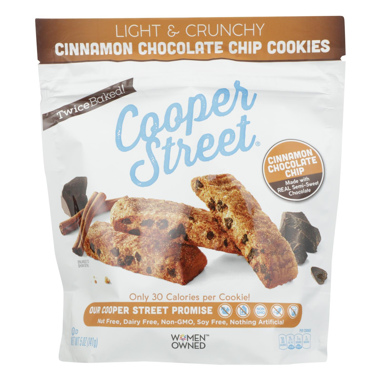 Cooper Street - Ckies Cinnamon Chocolate Chip - Case Of 6 - 5 Oz - BeeGreen