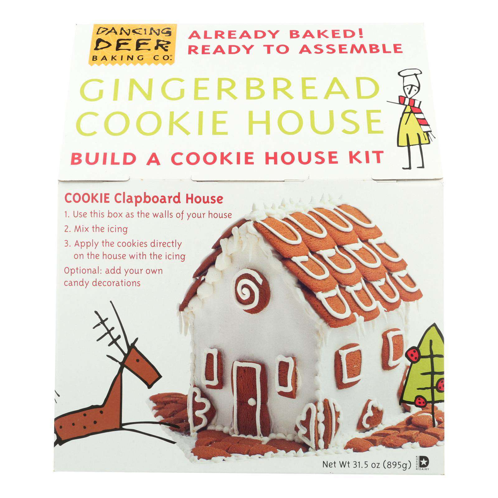 Dancing Deer Baking Company - Pre-baked Gingerbread House Kit - Case Of 6 - Count - BeeGreen