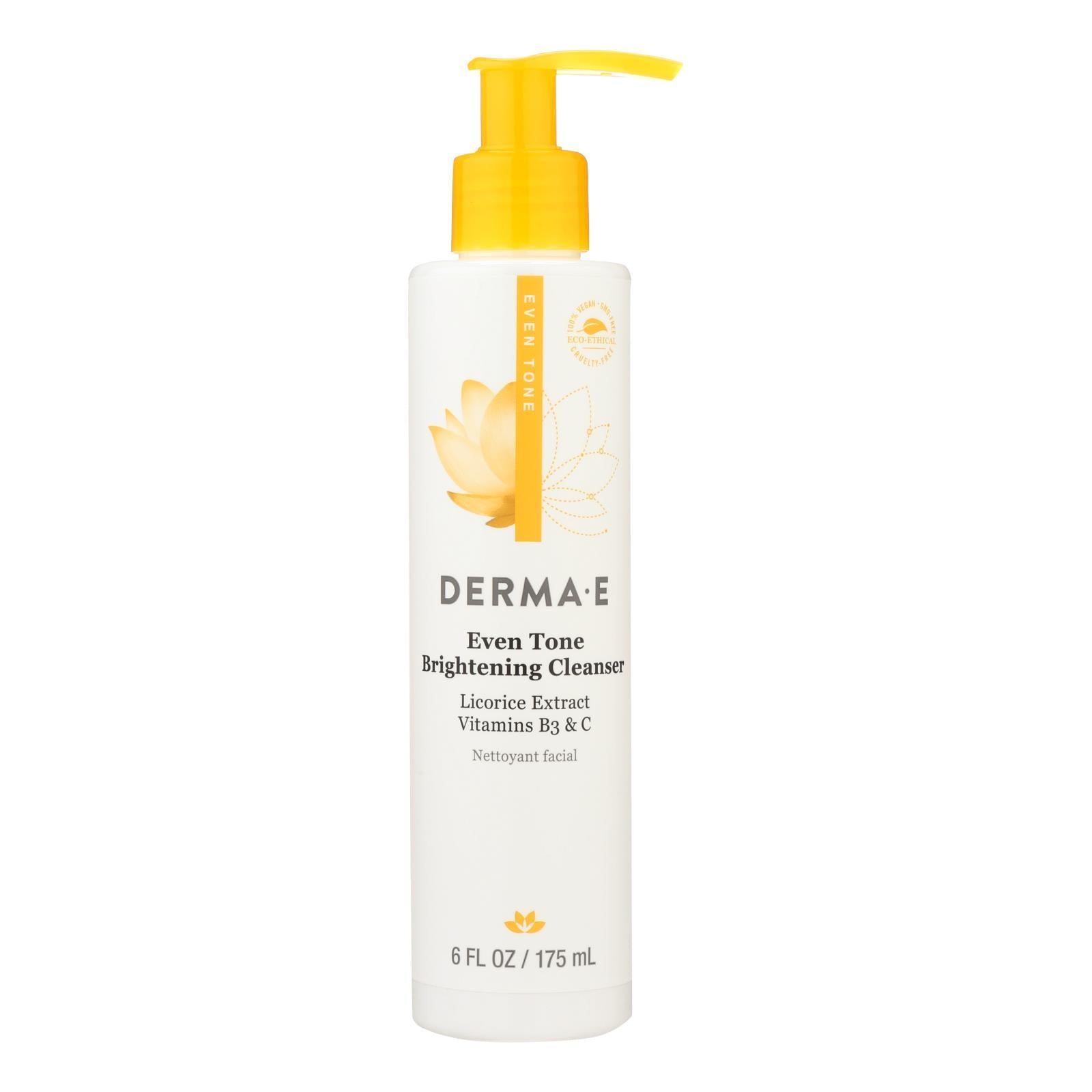 Derma E - Evenly Radiant Cleanser - 6 Fl Oz. - BeeGreen
