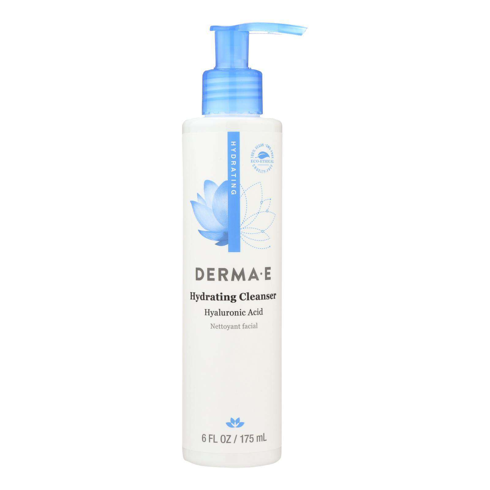 Derma E - Hyaluronic Hydrating Cleanser - 6 Fl Oz. - BeeGreen