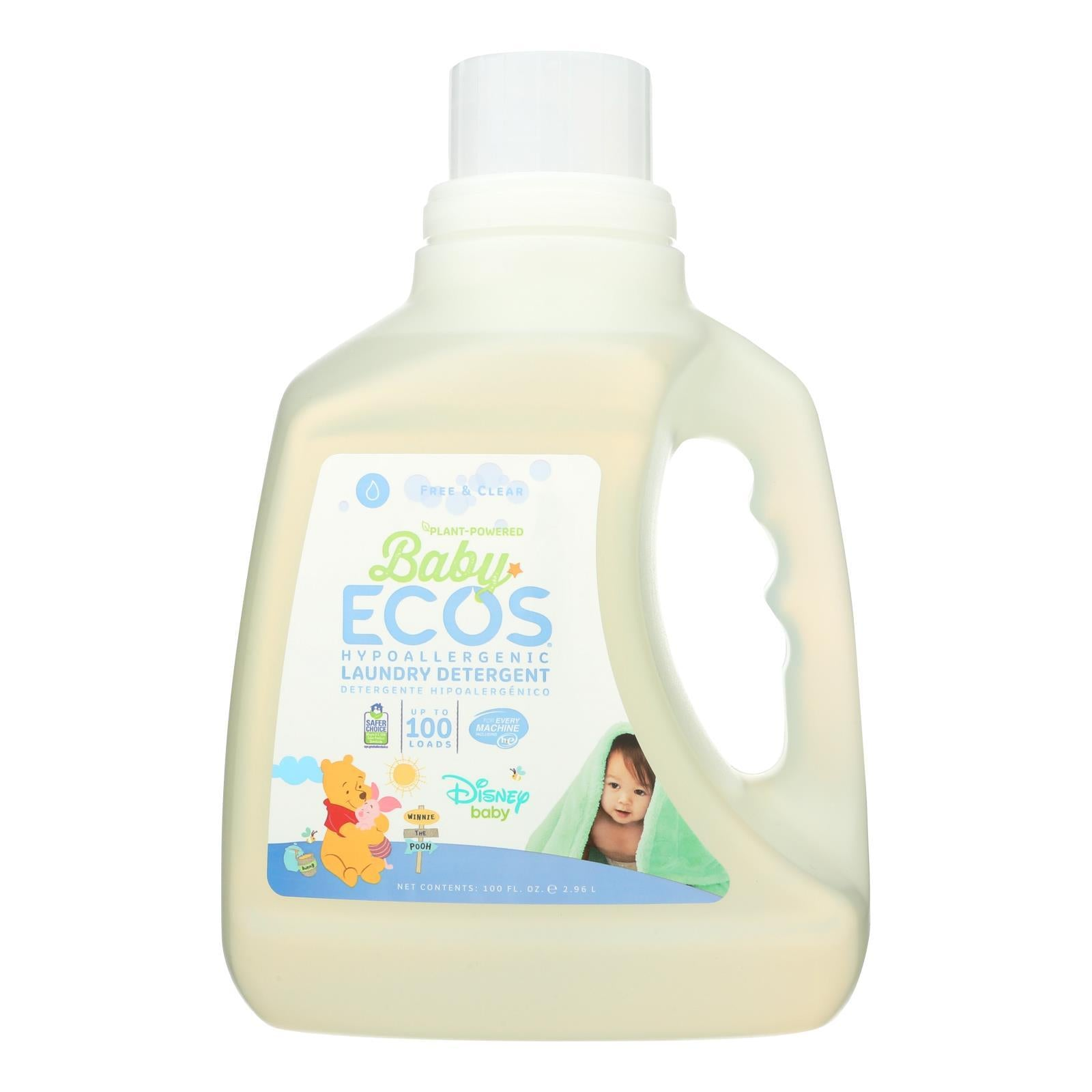 Earth Friendly Baby Free And Clear Disney Laundry Detergent - Case Of 4 - 100 Fl Oz. - BeeGreen