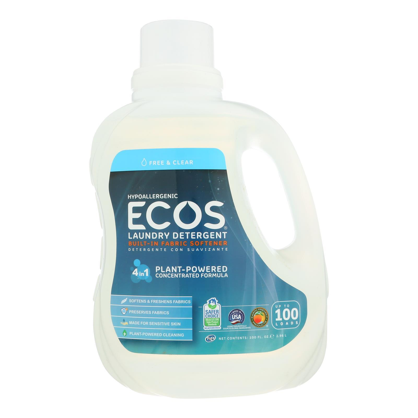 Earth Friendly Ecos Ultra 2x All Natural Laundry Detergent - Free And Clear - 100 Fl Oz - BeeGreen