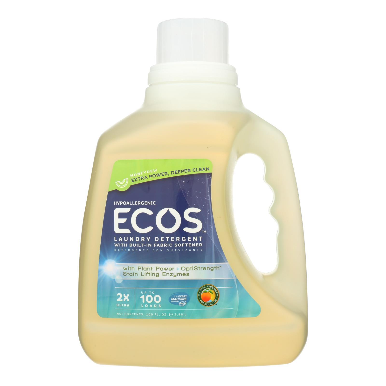 Earth Friendly Laundry Detergent - Ecos - Honeydew - Case Of 4 - 100 Fl Oz - BeeGreen