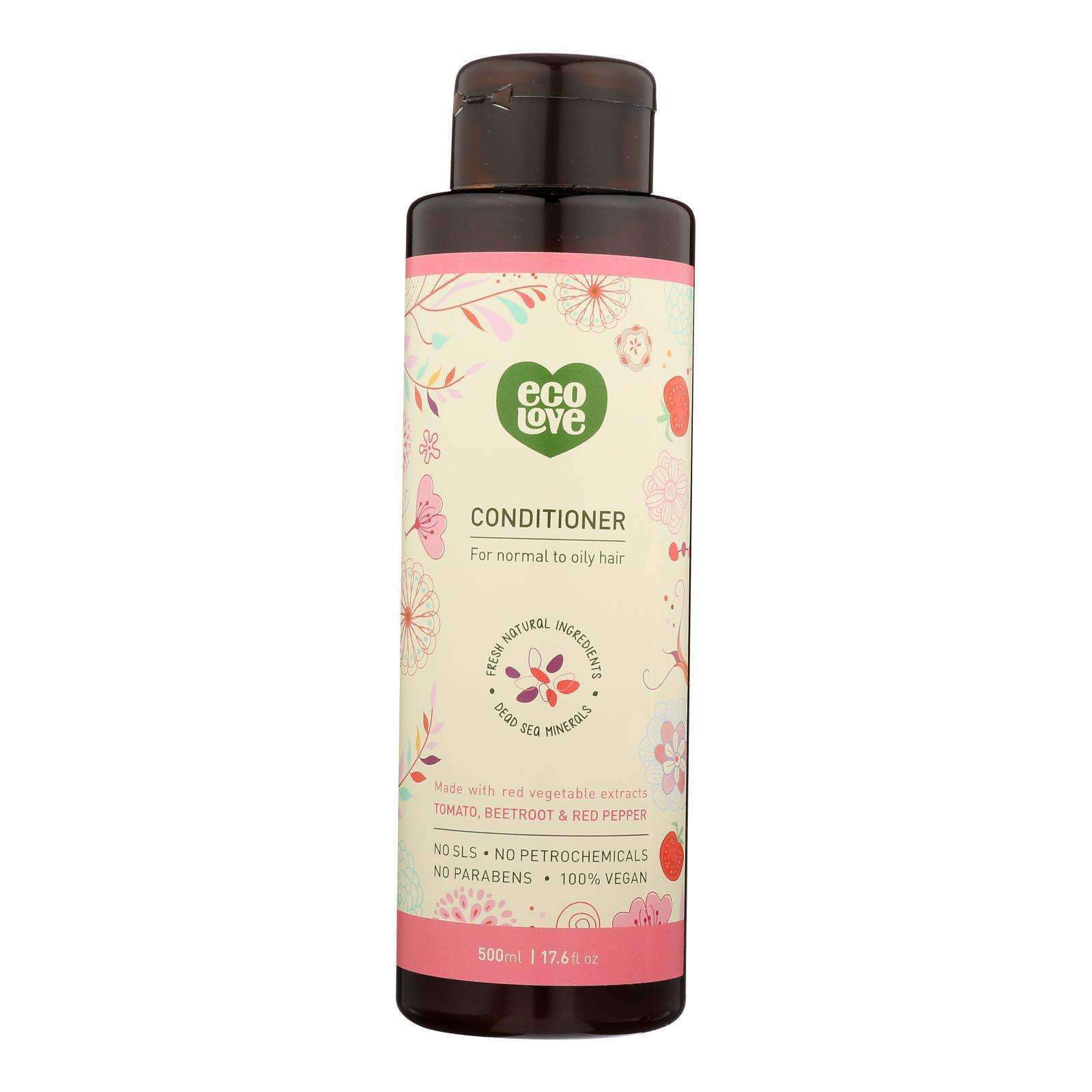 Ecolove Conditioner - Red Vegetables Conditioner For Normal To Oily Hair - Case Of 1 - 17.6 Fl Oz. - BeeGreen