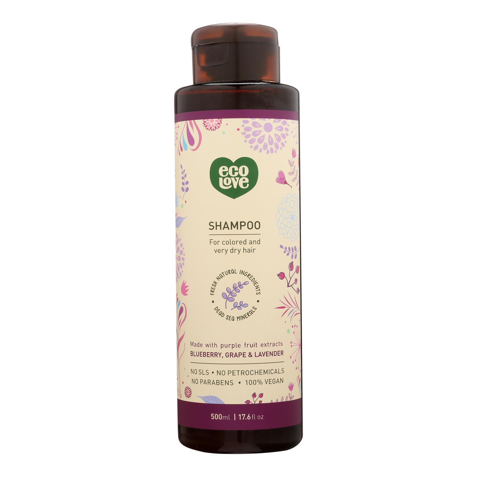 Ecolove Shampoo - Purple Fruit Shampoo For Colored And Very Dry Hair - Case Of 1 - 17.6 Fl Oz. - BeeGreen