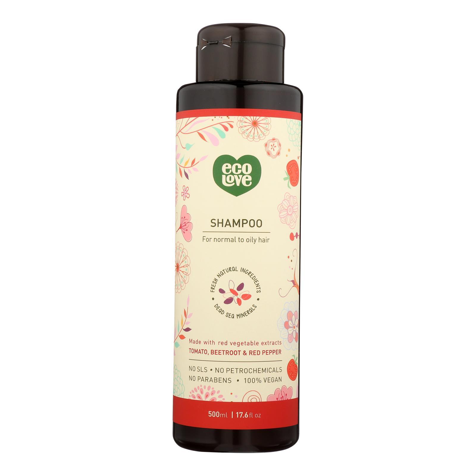 Ecolove Shampoo - Red Vegetables Shampoofor Normal To Oily Hair - Case Of 1 - 17.6 Fl Oz. - BeeGreen