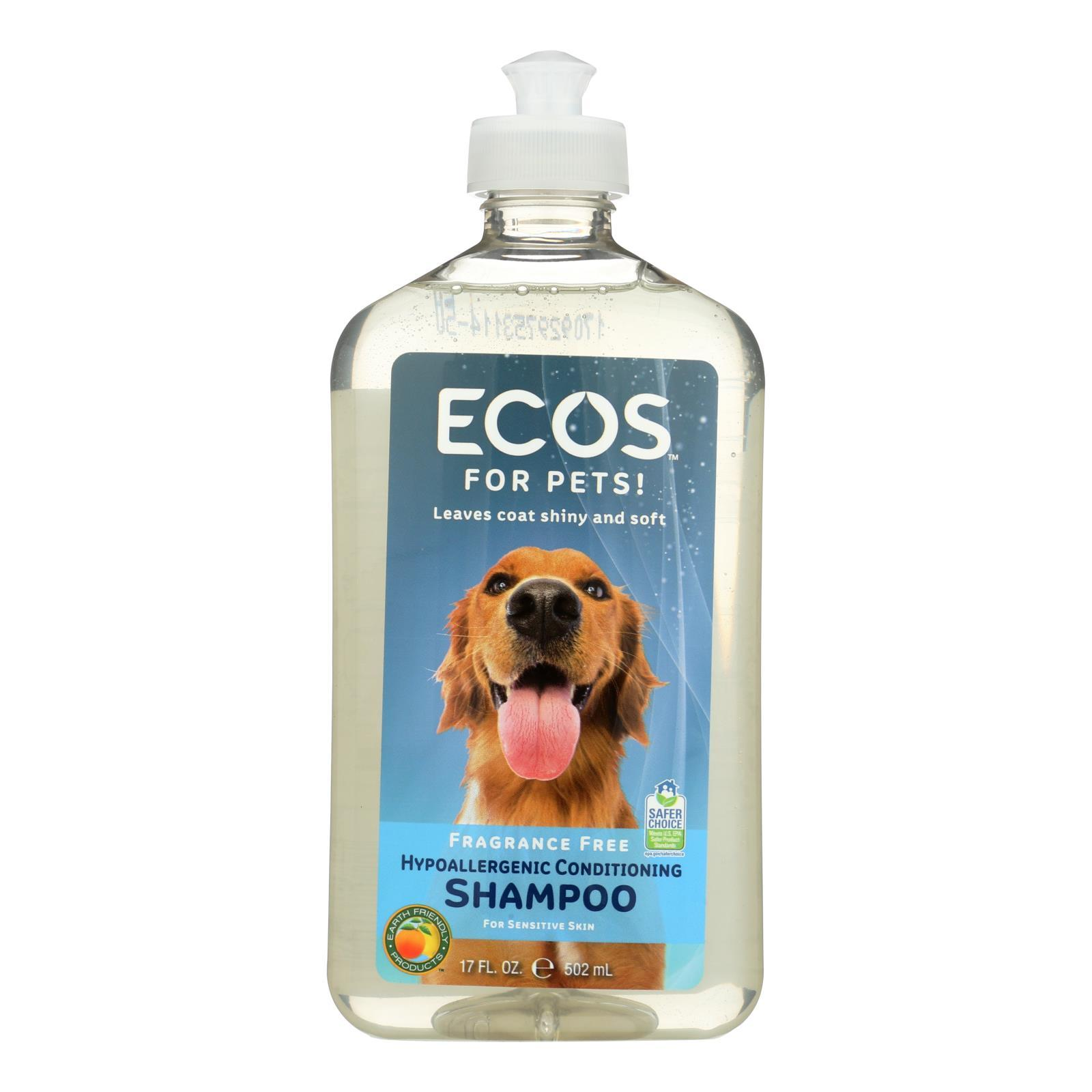 Ecos - Hypoallergenic Conditioning Pet Shampoo - Fragrance Free - 17 Fl Oz. - BeeGreen