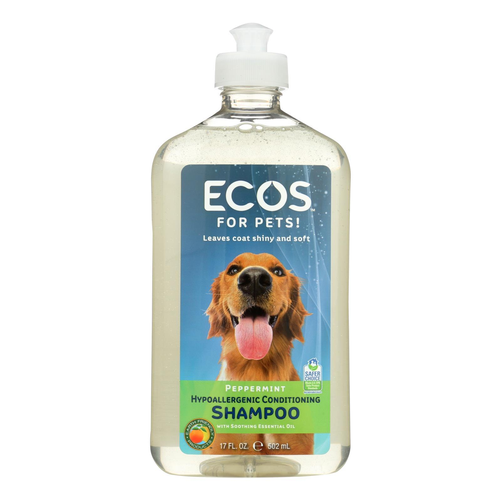 Ecos - Hypoallergenic Conditioning Pet Shampoo - Peppermint - 17 Fl Oz. - BeeGreen