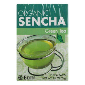 Eden Foods Organic Sencha Green Tea - Case Of 12 - 16 Bag - BeeGreen