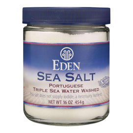 Eden Foods Portuguese Sea Salt - 16 Oz - BeeGreen