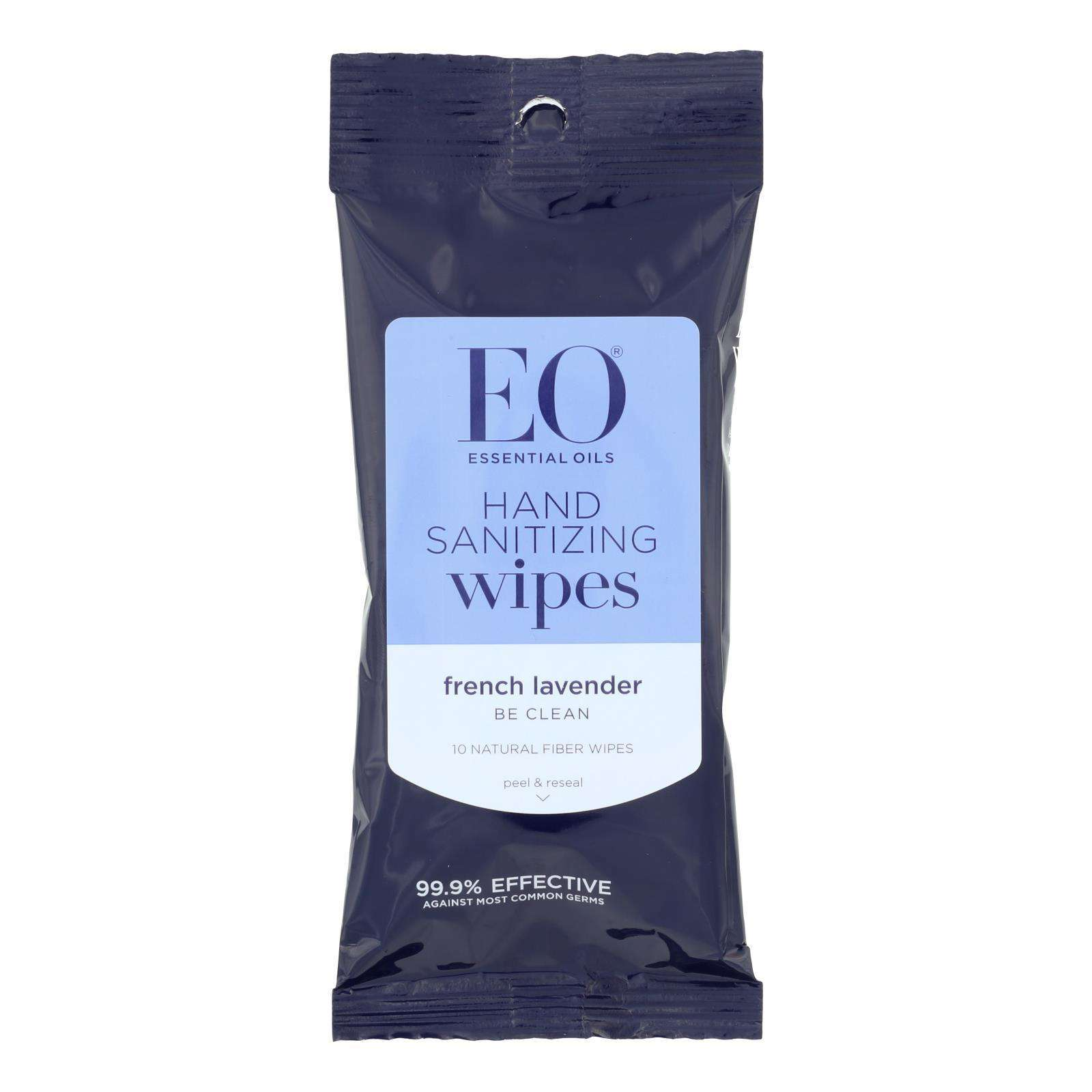 Eo Products - Hand Sanitizer Wipes Display Center - Lavender - Case Of 6 - 10 Pack - BeeGreen