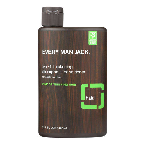 Every Man Jack 2 In 1 Shampoo Plus Conditioner - Thickening - Scalp And Hair - Fine Or Thinning Hair - 13.5 Oz - BeeGreen