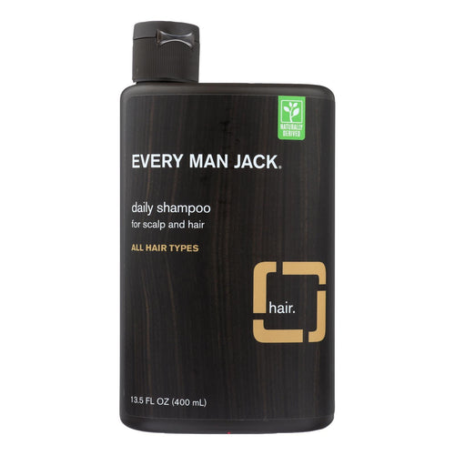 Every Man Jack Daily Shampoo - Scalp And Hair - All Hair Types - Sandalwood - 13.5 Oz - BeeGreen
