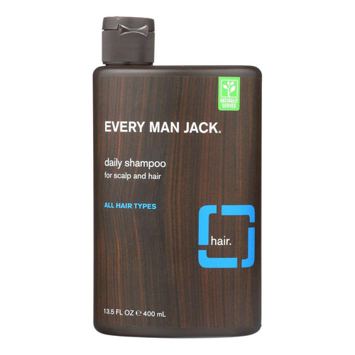 Every Man Jack Daily Shampoo - Scalp And Hair - All Hair Types - Signature Mint - 13.5 Oz - BeeGreen