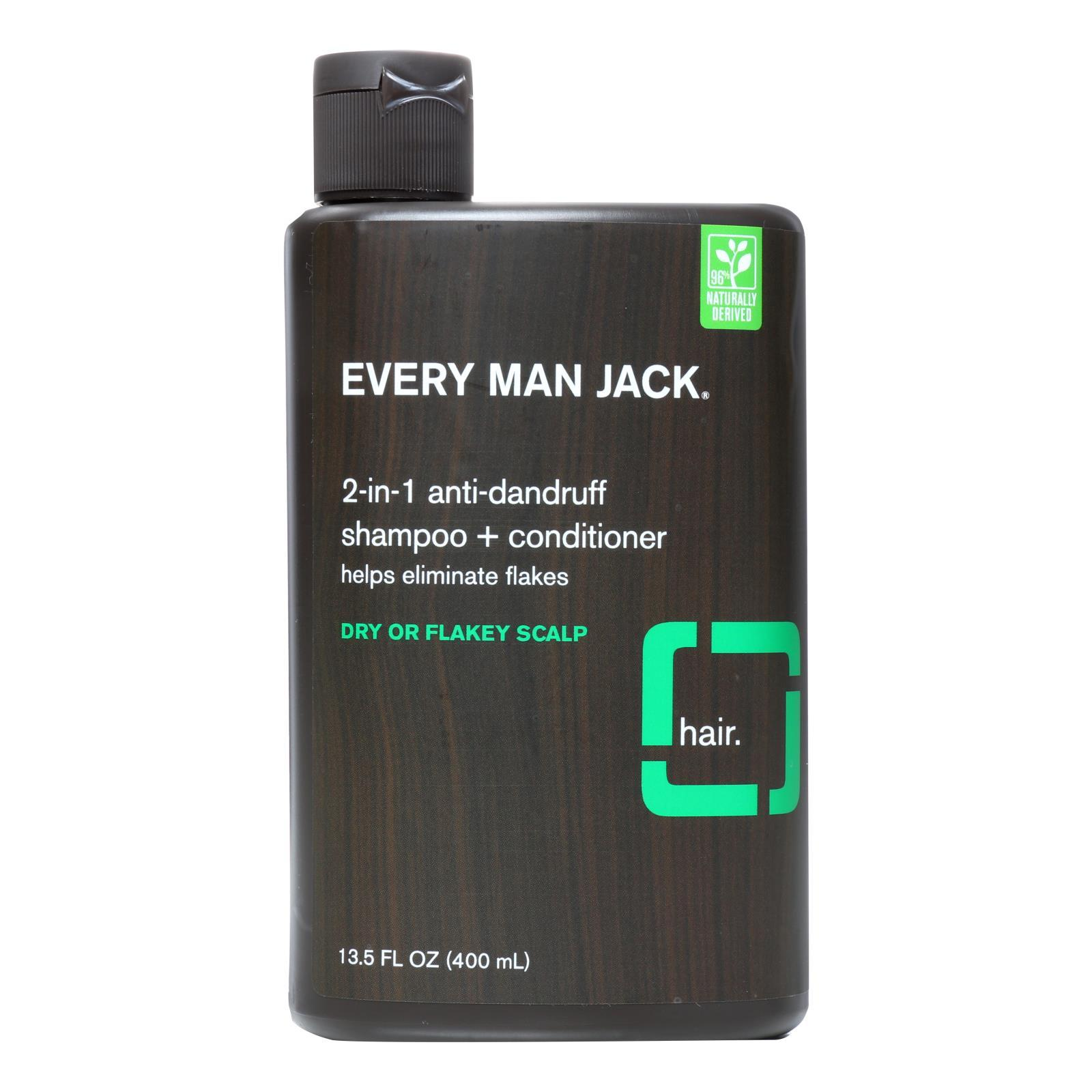 Every Man Jack Shampoo - 2in1 - Anti-dandruff - 13.50 Fl Oz - BeeGreen