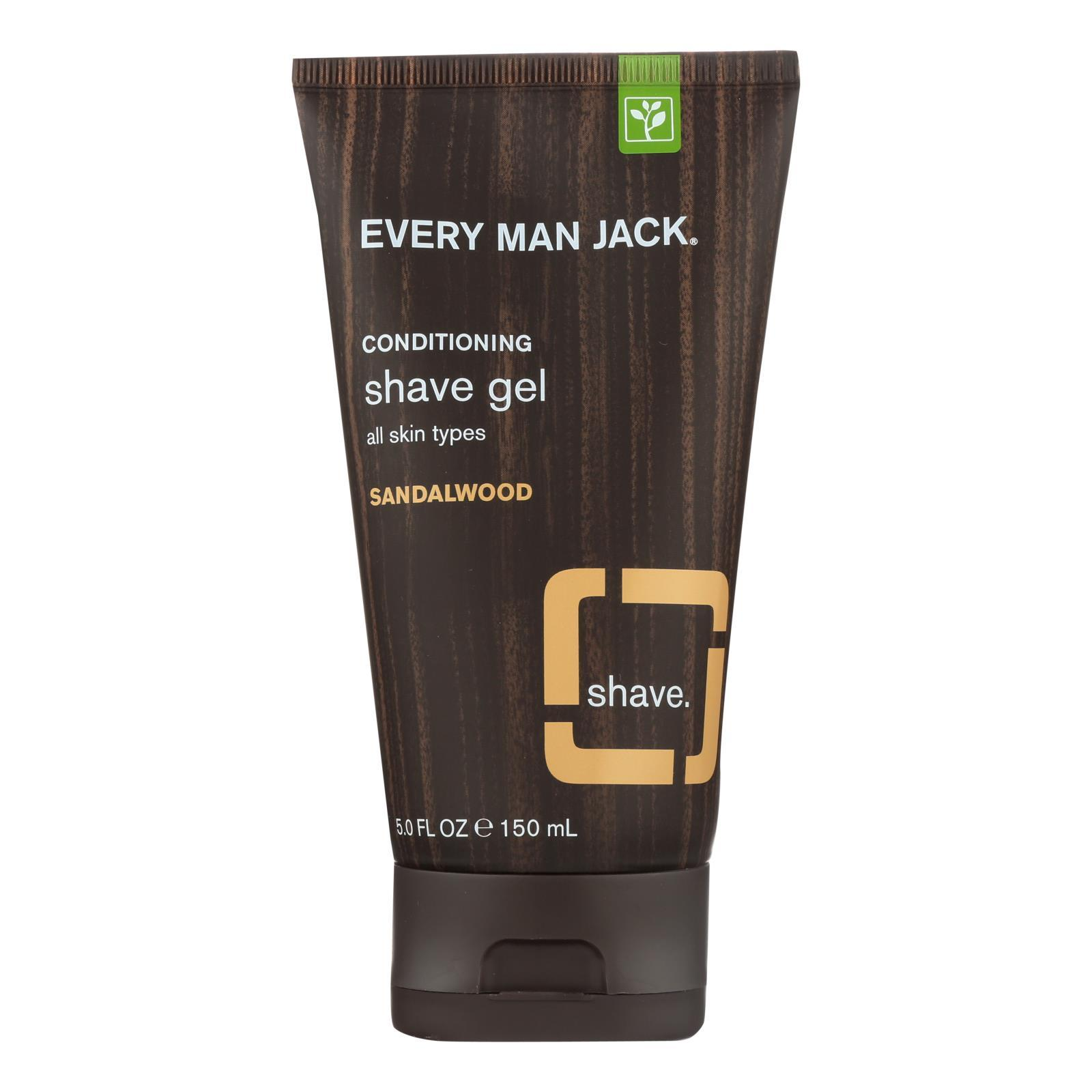 Every Man Jack Shave Gel - All Skin Types - Sandalwood - 5 Oz - BeeGreen