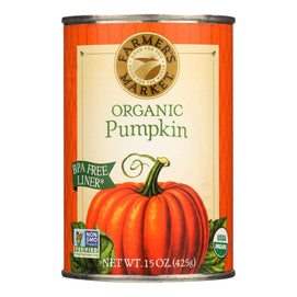 Farmer's Market Organic Pumpkin - Canned - Case Of 12 - 15 Oz. - BeeGreen