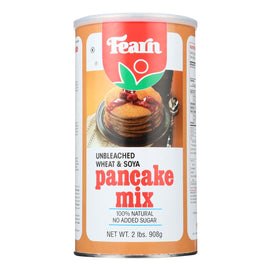 Fearns Soya Food Pancake Mix - Unbleached Wheat And Soya - 2 Lb - BeeGreen
