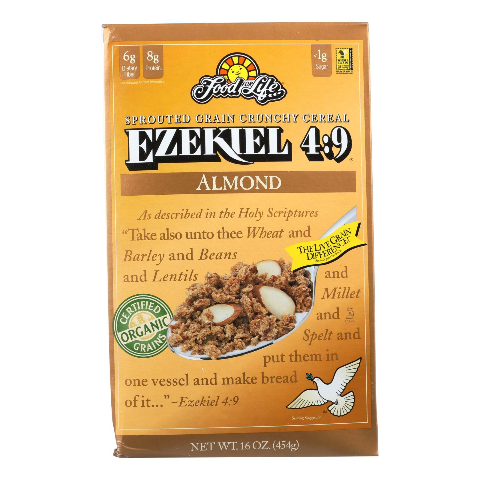 Food For Life Baking Co. Cereal - Organic - Ezekiel 4-9 - Sprouted Whole Grain - Almond - 16 Oz - Case Of 6 - BeeGreen