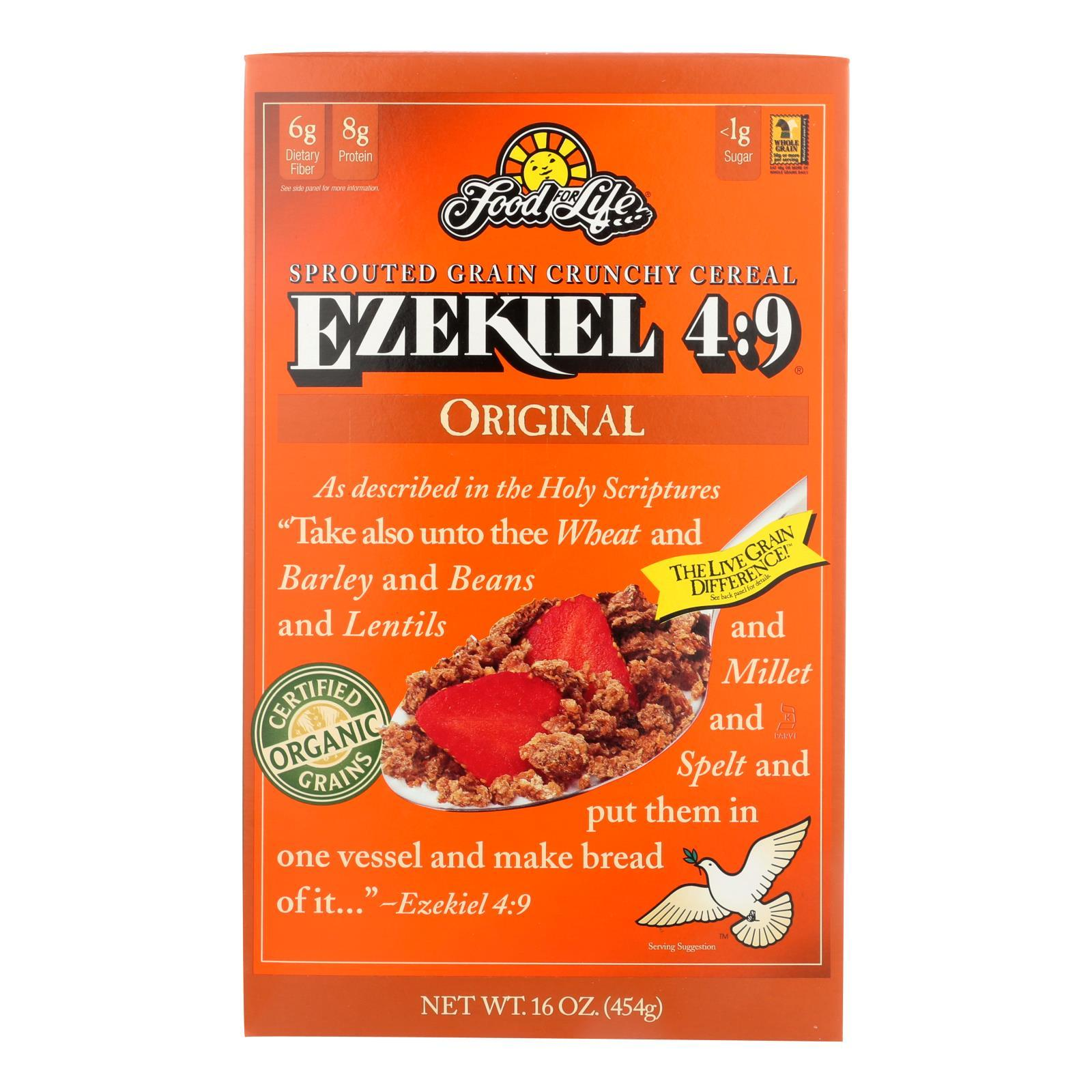 Food For Life Baking Co. Cereal - Organic - Ezekiel 4-9 - Sprouted Whole Grain - Original - 16 Oz - Case Of 6 - BeeGreen