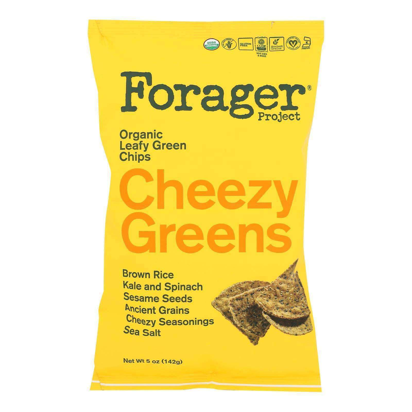 Forager Project - Veg Chips Chzy Greens - Case Of 8-5 Oz - BeeGreen