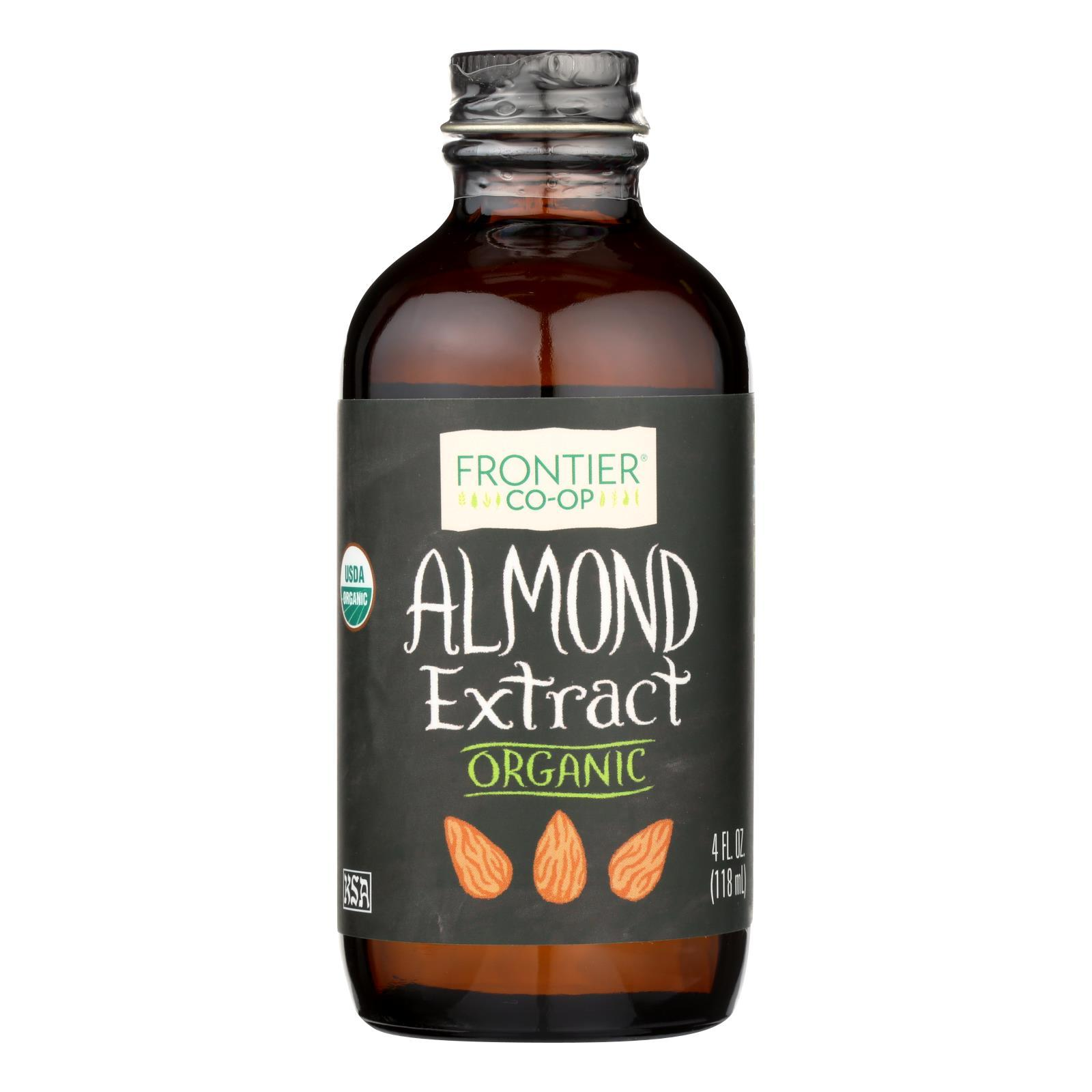 Frontier Herb Almond Extract - Organic - 4 Oz - BeeGreen