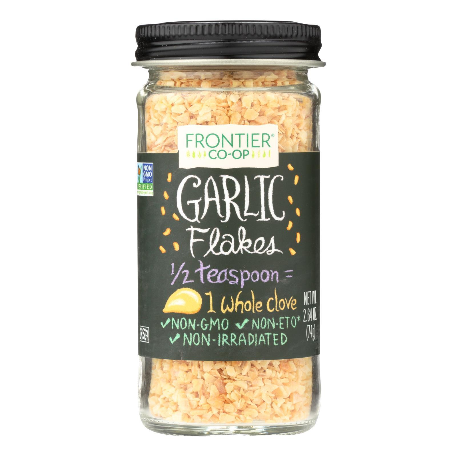 Frontier Herb Garlic - Flakes - 2.64 Oz - BeeGreen