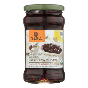 Gaea Olives - Organic - Kalamata - Pitted - Original - 5.6 Oz - Case Of 8 - BeeGreen