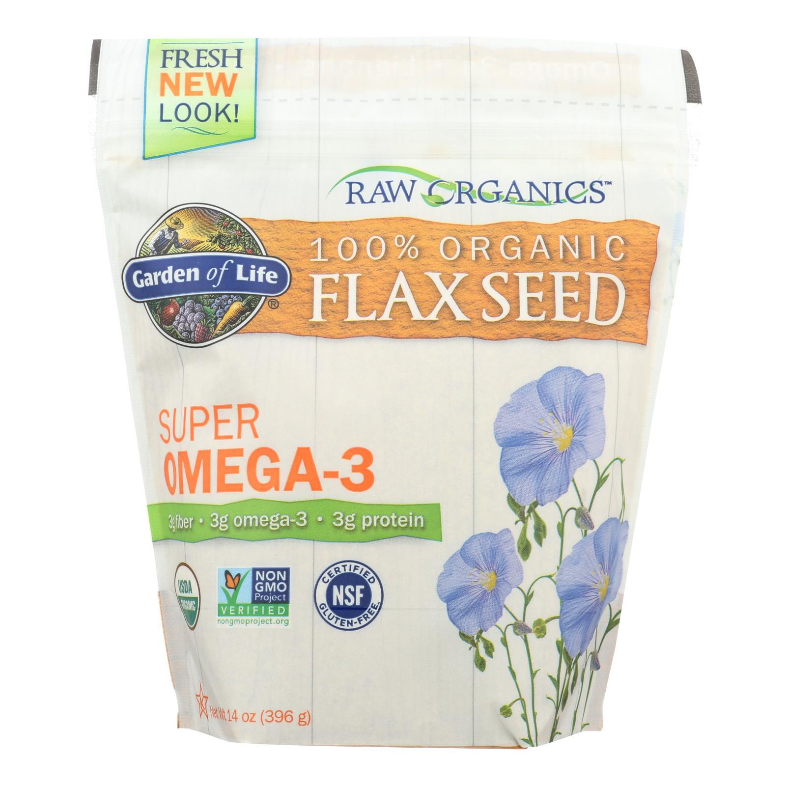 Garden Of Life - Raw Organics Golden Flaxseed - 14 Oz - BeeGreen