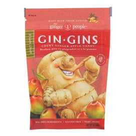 Ginger People Chewy Ginger Candy - Spicy Apple - Case Of 12 - 3 Oz. - BeeGreen