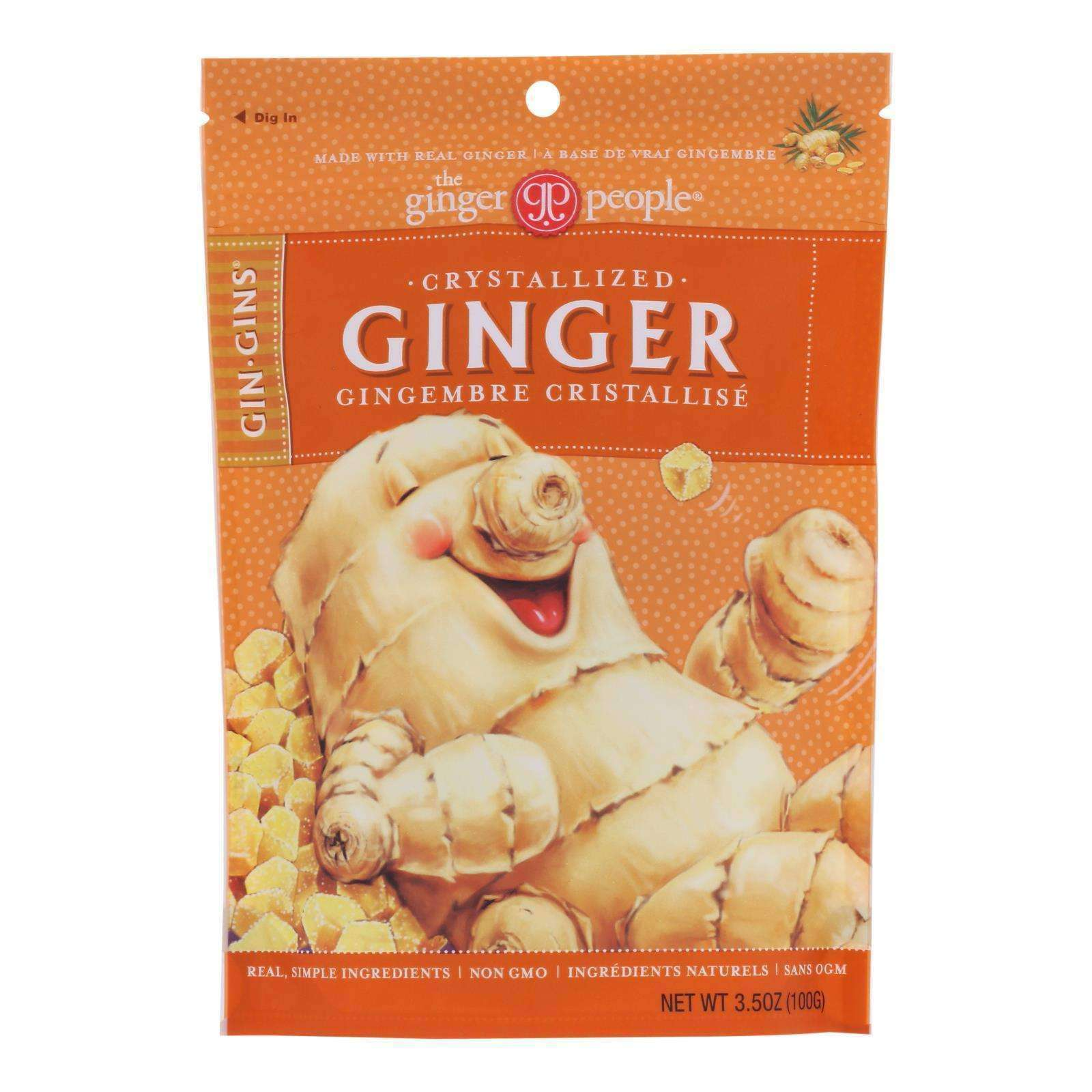 Ginger People - Crystallized Ginger - Case Of 12 - 3.5 Oz. - BeeGreen