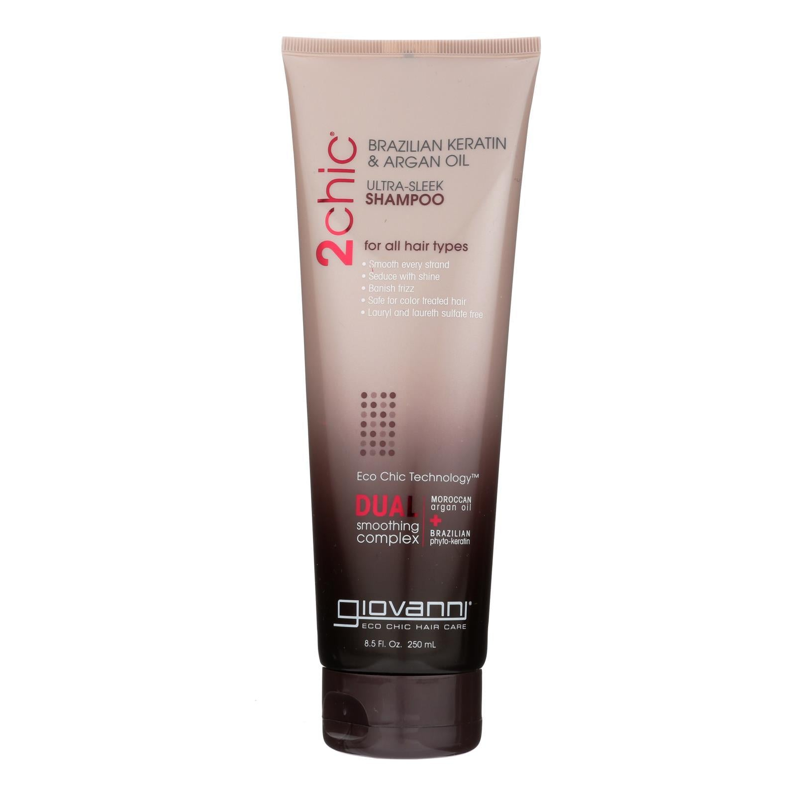 Giovanni 2chic Ultra-sleek Shampoo With Brazilian Keratin And Argan Oil - 8.5 Fl Oz - BeeGreen