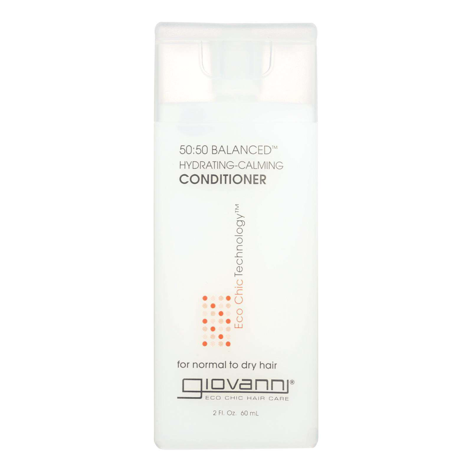 Giovanni 50:50 Balanced Conditioner Hydrating-calming - 2 Fl Oz - Case Of 12 - BeeGreen
