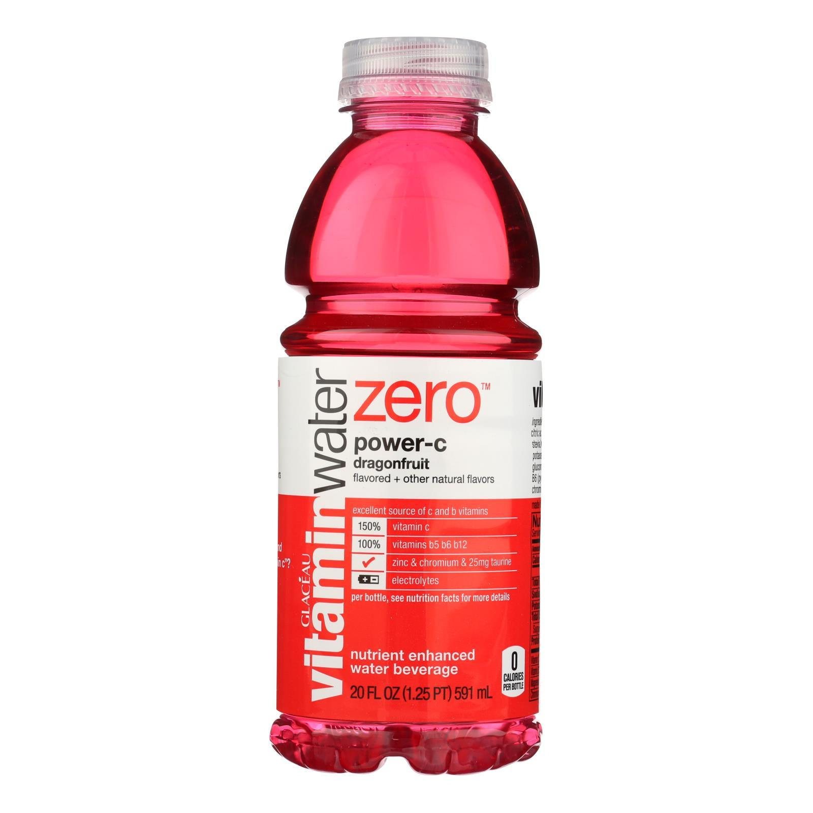 Glaceau Vitamin Water Dragonfruit Flavor Nutrient Enhanced Water Beverage - Case Of 12 - 20 Fz - BeeGreen