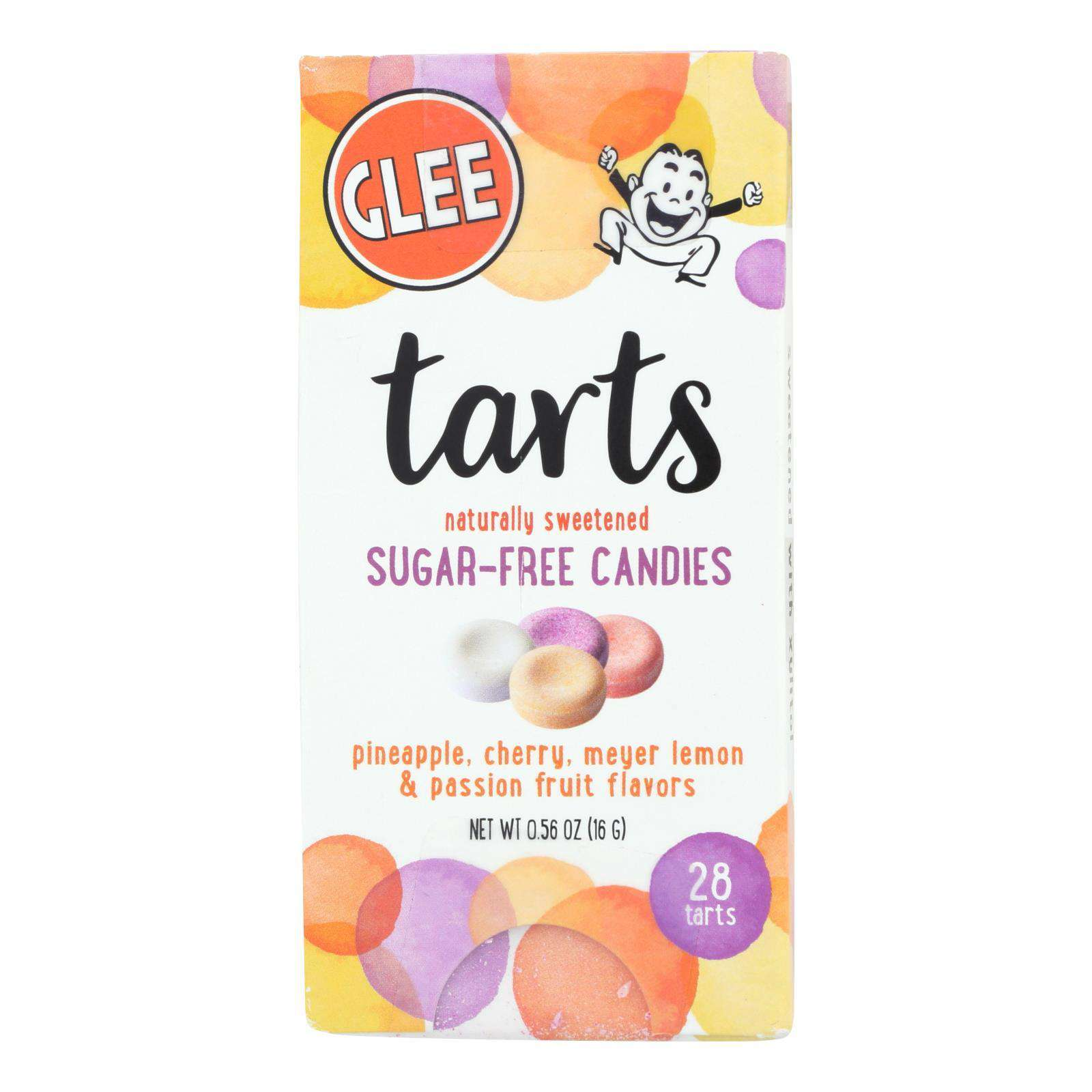 Glee Gum - Candy Tarts - Sugar Free - Case Of 12 - 28 Count - BeeGreen