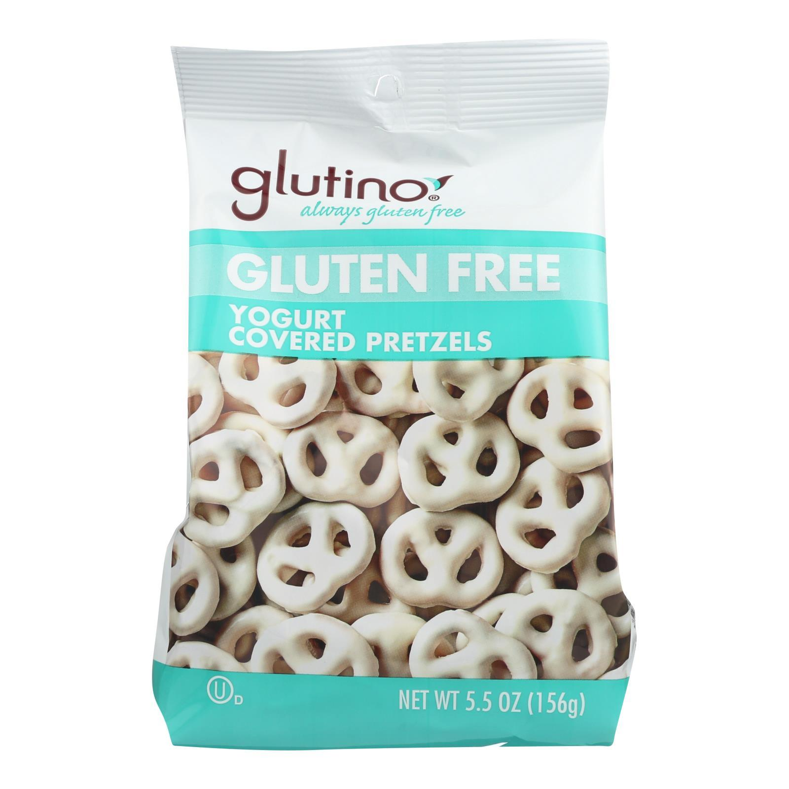 Glutino Peppermint Pretzels - Yogurt - Case Of 12 - 5.5 Oz. - BeeGreen