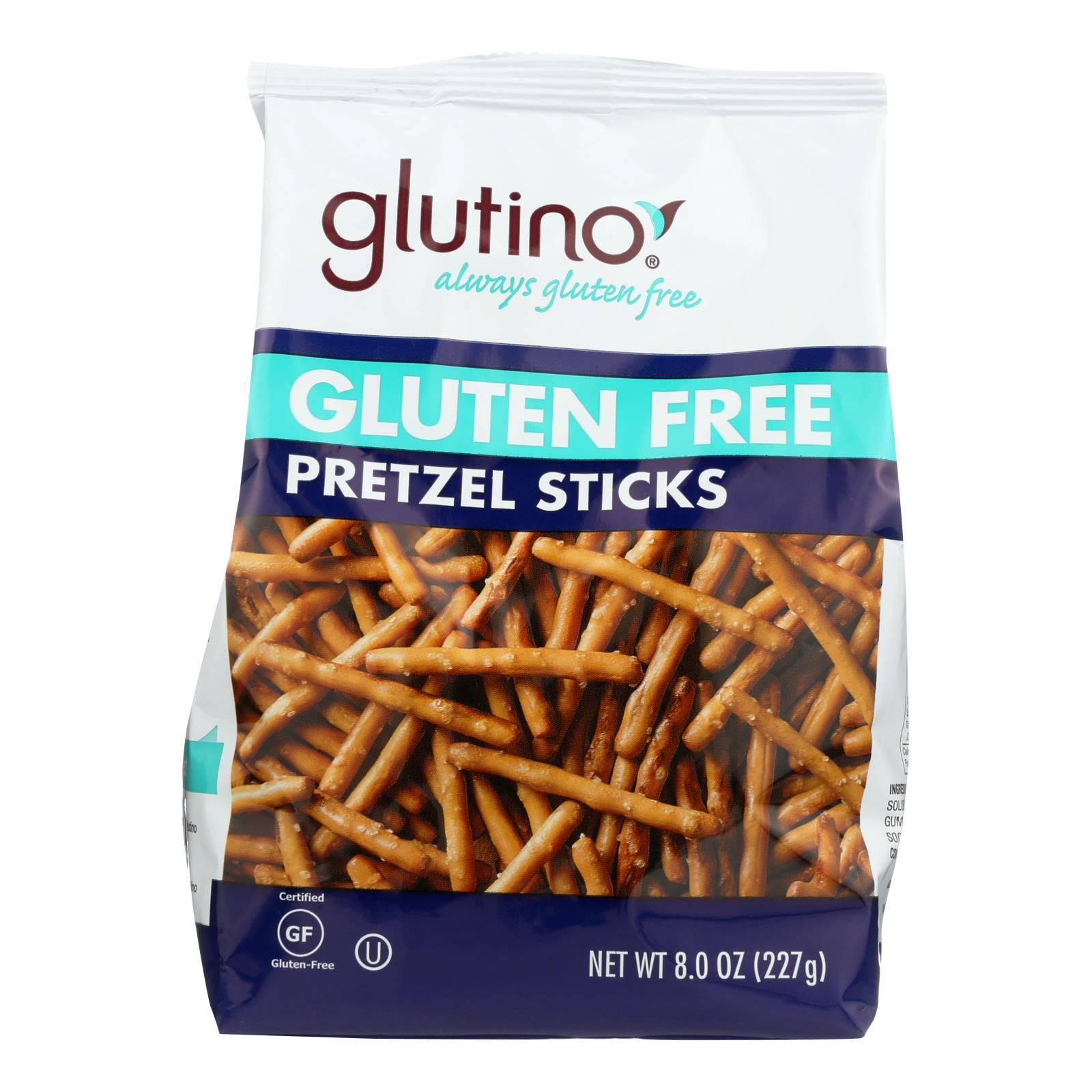 Glutino Pretzels Sticks - Case Of 12 - 8 Oz. - BeeGreen