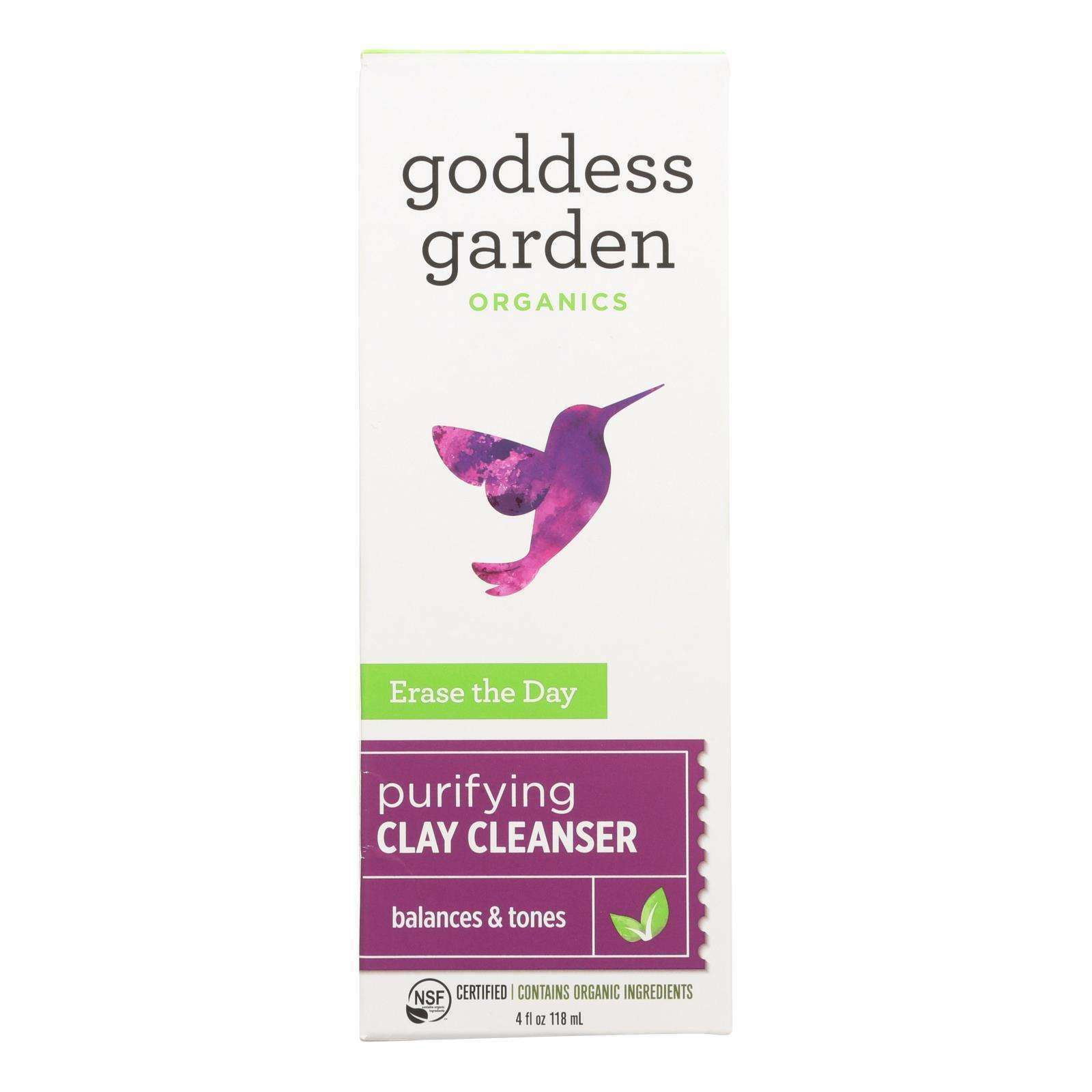 Goddess Garden Erase The Day Mineral-removing Cleanser - Case Of 4 - 4 Fl Oz. - BeeGreen