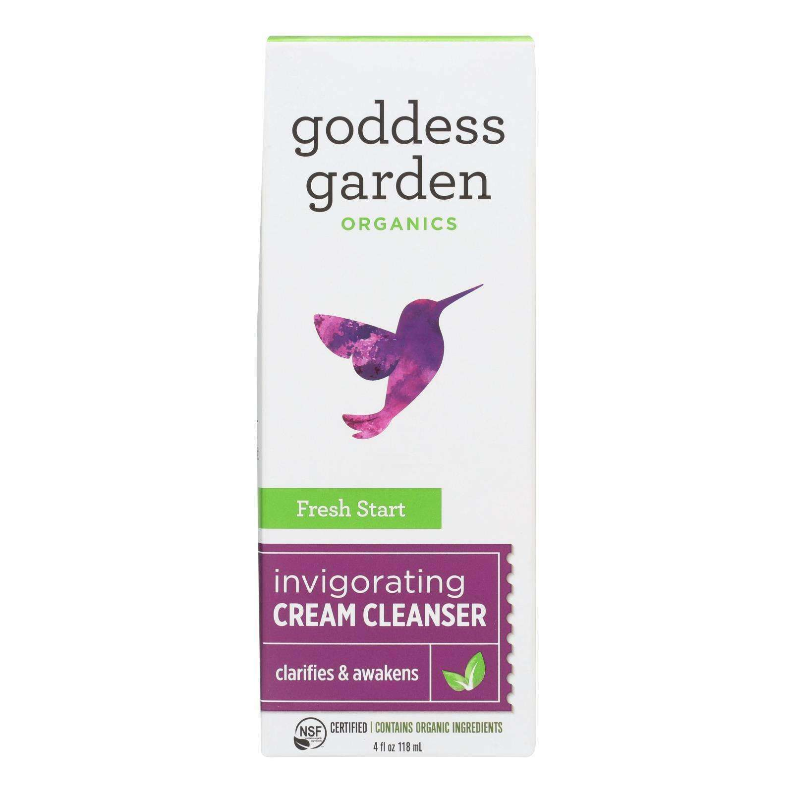 Goddess Garden Fresh Start Gentle Cream Cleanser - Case Of 4 - 4 Fl Oz. - BeeGreen