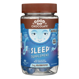 Good Day Chocolate - Chocolate Supp Sleep - 1 Each - 80 Ct - BeeGreen