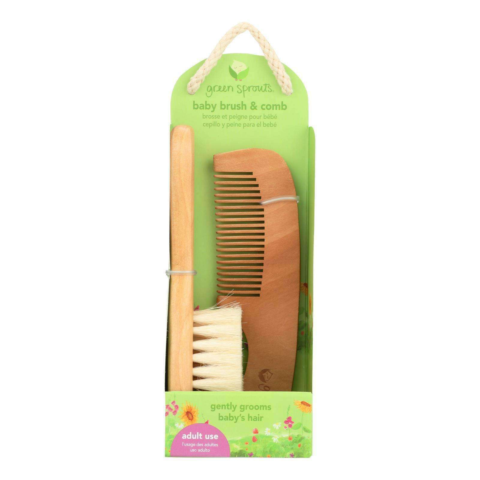 Green Sprouts Comb And Brush Set - BeeGreen
