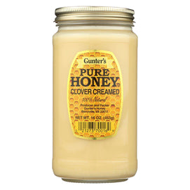 Gunter Pure Clover Creamed Honey - Case Of 12 - 16 Oz. - BeeGreen