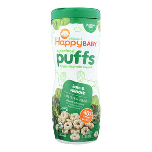 Happy Baby Organic Puffs Greens - 2.1 Oz - Case Of 6 - BeeGreen