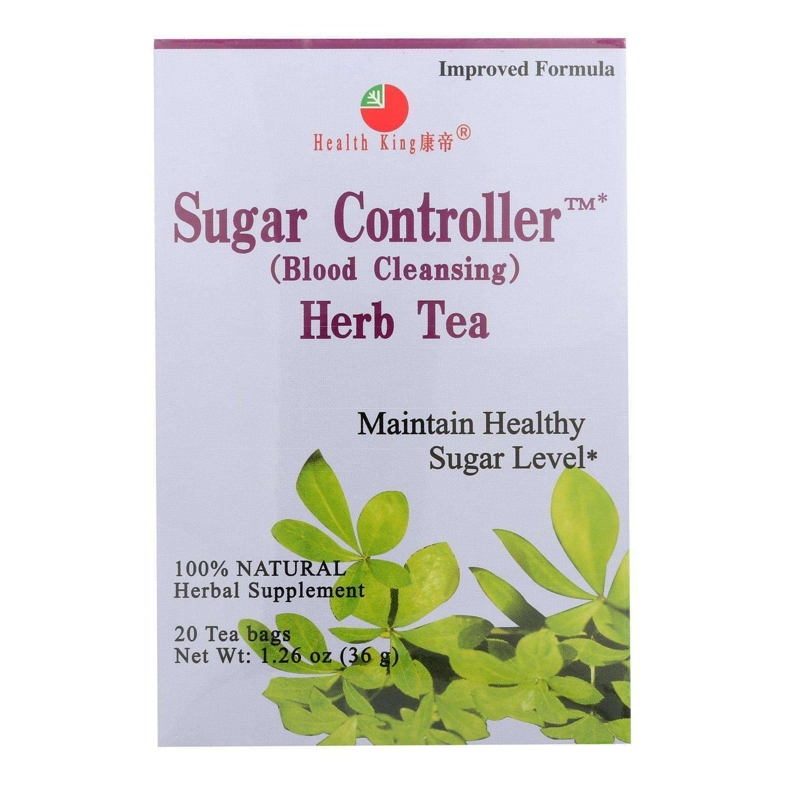 Health King Sugar Controller Blood Cleansing Herb Tea - 20 Tea Bags - BeeGreen
