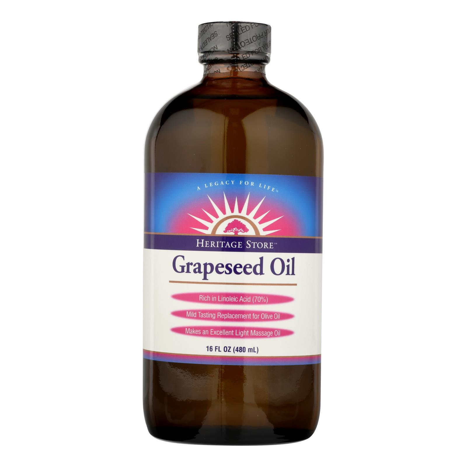 Heritage Products Grapeseed Oil - 16 Fl Oz - BeeGreen