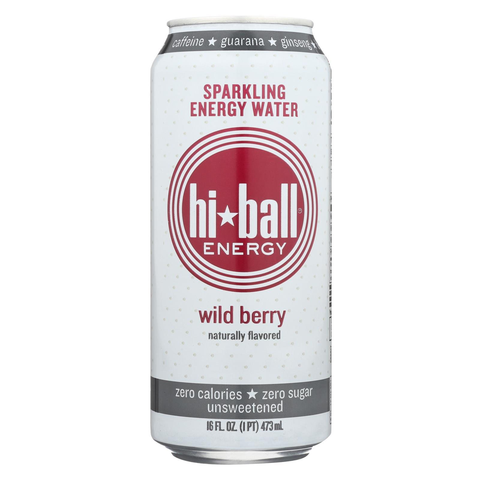 Hi Ball Energy Sparkling Energy Water - Wild Berry - Case Of 1 - 8-16 Fl Oz. - BeeGreen