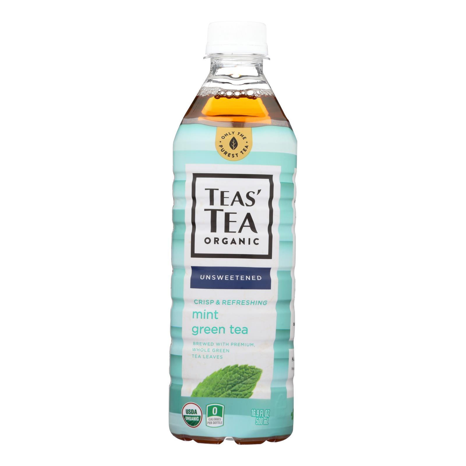 Itoen Tea - Organic - Green - Mint - Bottle - Case Of 12 - 16.9 Fl Oz - BeeGreen
