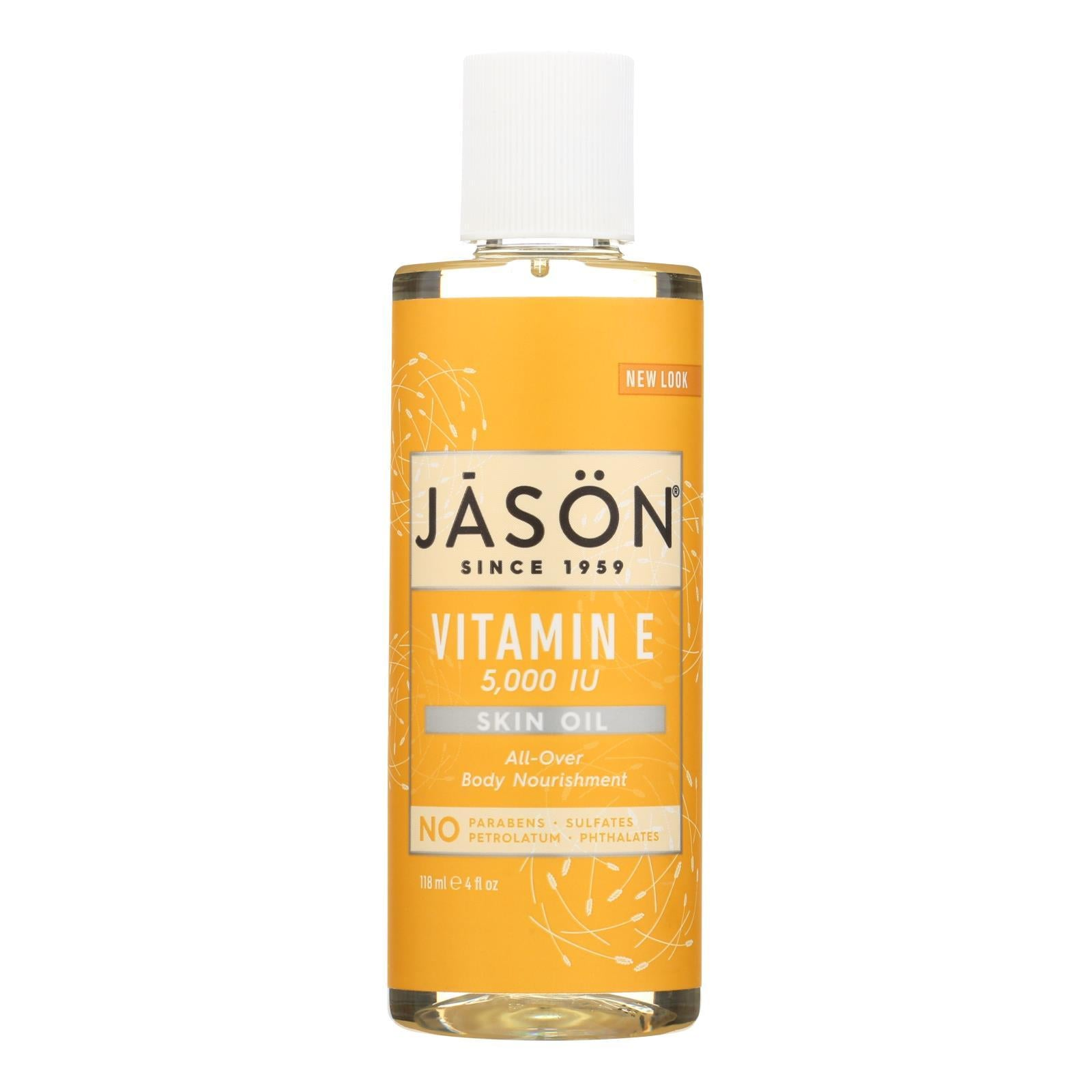 Jason Vitamin E Pure Natural Skin Oil - 5000 Iu - 4 Fl Oz - BeeGreen