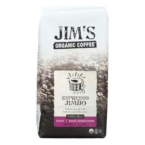 Jim's Organic Coffee - Whole Bean - Espresso Jimbo - Case Of 6 - 11 Oz. - BeeGreen