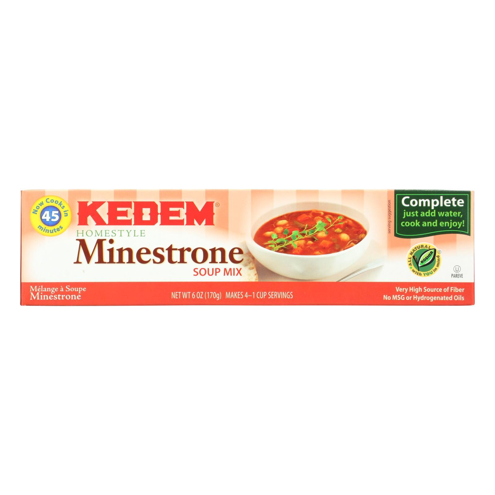 Kedem Minestrone Soup Mix - Case Of 24 - 6 Oz. - BeeGreen